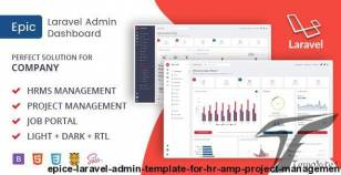Epice Laravel - Admin Template for HR & Project Management By admincraft