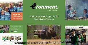 Eronment - Environment / Non-Profit HTML Template By themearc