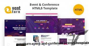 Eventturn - Event and Conference HTML5 Template By bangladevs