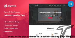 Evnto - Event & Conference Unbounce Landing Page Template By prextheme