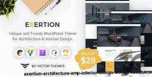 Exertion - Architecture & Interior Design WordPress Theme By victorthemes