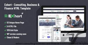 Exhort - Consulting Business And Finance Bootstrap 4 HTML Template By themepul