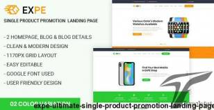 EXPE - Ultimate Single Product Promotion Landing Page By mk360_themes