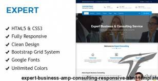 Expert - Business & Consulting Responsive HTML Template By sbtechnosoft
