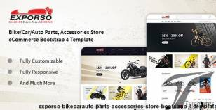 Exporso - Bike/Car/Auto Parts, Accessories Store Bootstrap 4 Template By devitems