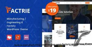 Factrie - Manufacturing / Engineering & Factory WordPress Theme By zozothemes