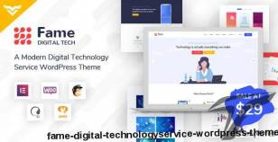 Fame - Digital Technology/Service WordPress Theme By victorthemes