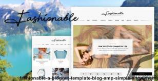 Fashionable - A Blogger Template Blog & Simple Shop Theme By varthemes