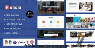 Felicia - Parallax One Page HTML Template By mhs-0