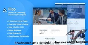 Fico - Finance & Consulting Business HTML Template By yogsthemes