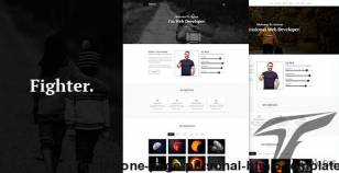 Fighter - One Page Personal HTML5  Template By em40