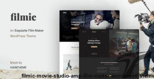 Filmic - Movie Studio & Film Maker WordPress Theme By haintheme