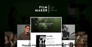 FilmMaker Drupal 8 Theme Movie Production - Video Blogger - Creative Agency By megadrupal