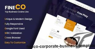 Fineco - Corporate Business Template By themeoxygen