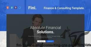 Fini — Finance & Consulting One Page Template By 4tabs