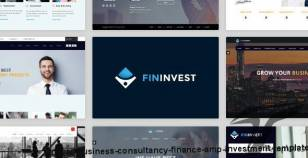 Finvest - Business, Consultancy, Finance & investment template By venbradshaw
