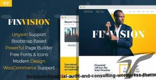 Finvision - Financial Audit And Consulting WordPress Theme By mwtemplates