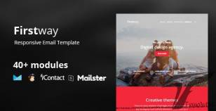 Firstway – Business Responsive Email Template 45+ Modules - StampReady Builder+Mailster+ Mailchimp By etemplate4u