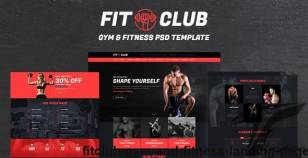 FITCLUB - Gym and Fitness Landing Page By kalanidhithemes