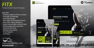 FitX - Fitness & Gym Muse Template By rometheme