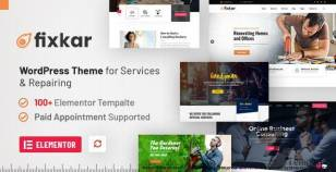 FixKar - A Services WordPress Theme (Elementor) with Online Payment System for Appointments By webinane