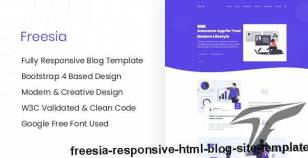 Freesia - Responsive HTML Blog Site Template By themeix