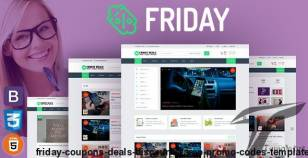 FRIDAY – Coupons, Deals, Discounts & Promo Codes Template By codastroid