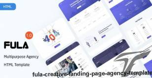 Fula - Creative Landing Page Agency Template By ui-themez