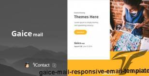 Gaice Mail - Responsive E-mail Template By williamdavidoff