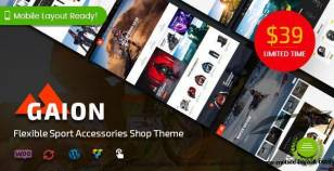 Gaion - Sport Accessories Shop WordPress WooCommerce Theme (Mobile Layout Ready) By magentech