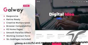 Galway - A Colorful and Modern Multipurpose Portfolio Template By template_path