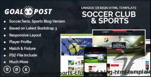 GoalPost Sports Club And Blog HTML Template By aladinthemes