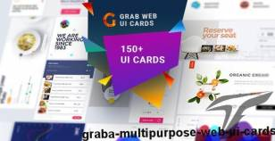 Grab-A Multipurpose Web UI Cards By 0effortthemes