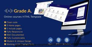 Grade A. - Online courses and Education HTML template By forward-web