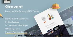 Gravent - Event and Conference HTML Theme By grayic