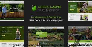 GreenLawn - Landscape And Gardening HTML Template By designarc