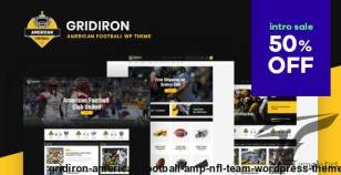 Gridiron | American Football & NFL Team WordPress Theme By themerex