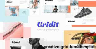 Gridit - Creative Grid HTML Template By rafavathemes