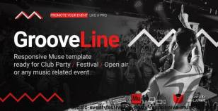 GrooveLine - Music Event / Festival / DJ Party Responsive Muse Template By vinyljunkie