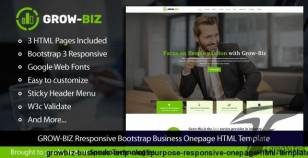 Grow-Biz – Business & Multipurpose Responsive OnePage HTML Template By sprukotechnologies