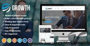 Growth | Business HTML Template By oscarthemes