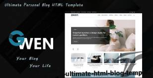 Gwen - Ultimate HTML Blog Template By rose-b