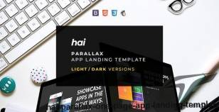 HAI - Parallax One Page App Landing Template By fourtabsthemes