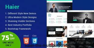 Haier   The Multipurpose HTML Template By codedesigner