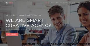 Hardi - Multi Purpose One Page Template By themeinf