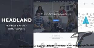 HEADLAND - Agency Business Responsive Bootstrap 4 Landing Page Template By stagebit