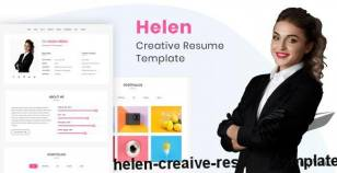 Helen - Creaive Resume Template By themes_mountain