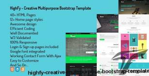 Highfy - Creative Multipurpose Bootstrap Template By themefast