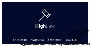 HighLaw Law Firm - Attorney HTML5 Templates By brothersclub