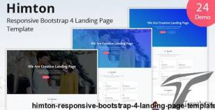 Himton - Responsive Bootstrap 4 Landing Page Template By themesboss